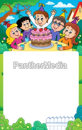 kids party topic frame 3
