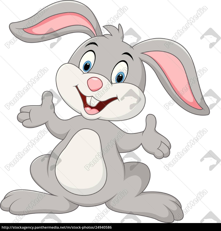 Kreskówka ładny królik stwarzające - Stockphoto - #24940586 ...