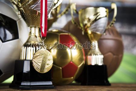 trofeum, osiągnięcia, wygrywające, sportowe, tło - 25131162