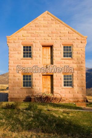 antique pioneer stone building