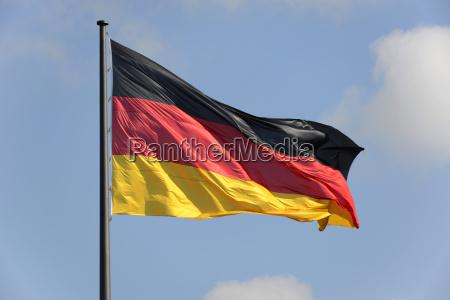 german national flag reichstag bundestag berlin