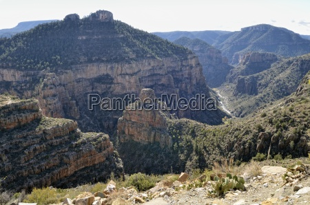 view into the salt river canyon