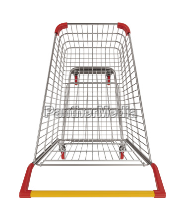 shopping cart top view cutout 3d