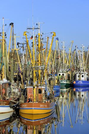crab cutter in port greetsiel north