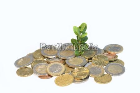 euro muenzen and saemling euro