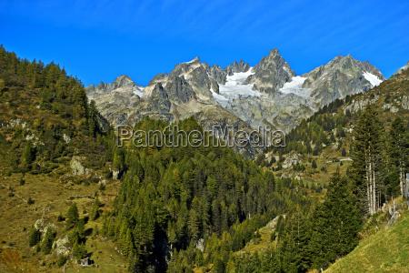alpine landscape at the susten pass