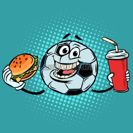 przerwij mecz fast food cola i
