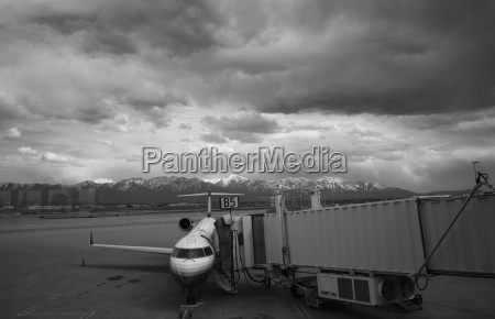 view of a commercial airline and