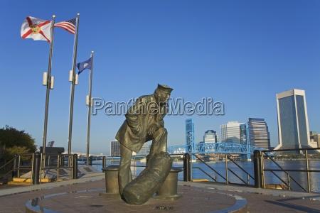 navy memorial statue jacksonville florida usa