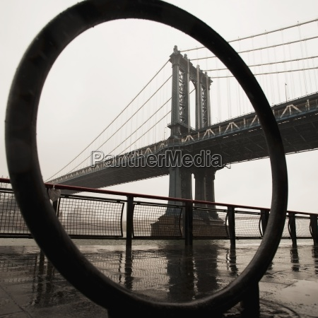 view of manhattan bridge new york