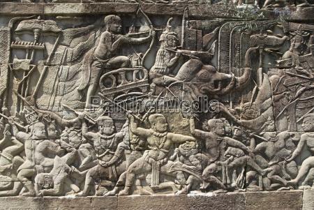 kambodza siem reap angkor thom park