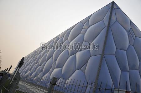 niebieski rok budowy nowoczesne nowoczesna mur