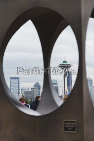 view of the space needle and