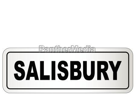 tabliczka znamionowa miasta salisbury