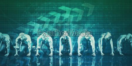 biznesmeni praca zespolowa dziala razem