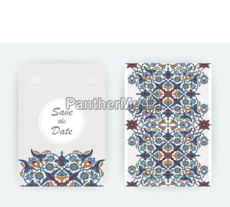 arabeskowy kwiatowy ozdoba wydruku szablon wektor