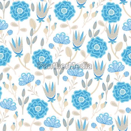 kwiatowy wzor recznie rysowane kreatywne kwiaty