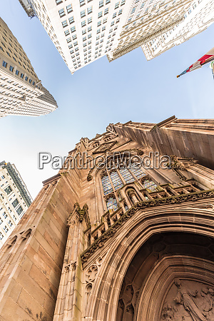 wide angle upward view of trinity