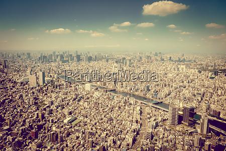 widok z lotu ptaka na panorame