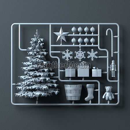 plastic assembly kit for christmas tree