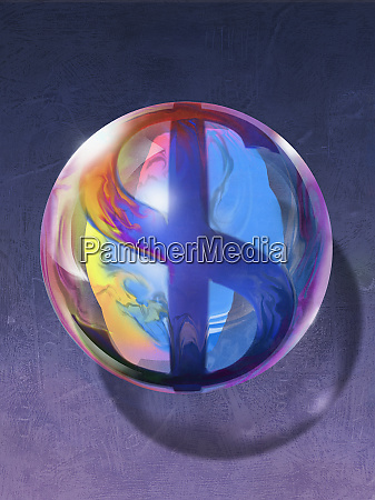 sphere with dollar sign