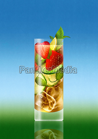 letni napoj koktajlowy z owocami
