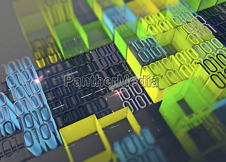 programowanie komputerowe i bloki kolorowych danych