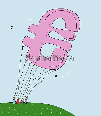 large euro symbol balloon