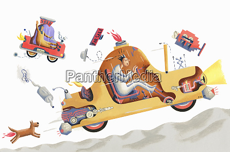 people driving broken used cars