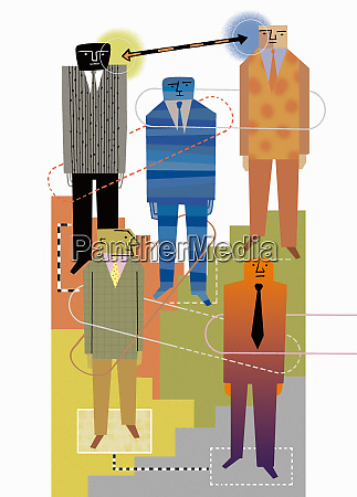 connections between hierarchy of businessmen