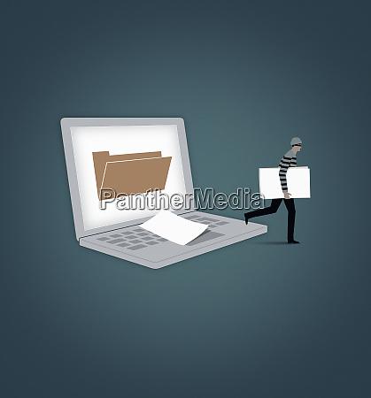 burglar kradziez pliku z folderu ekranu