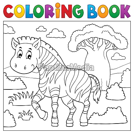 coloring book african nature topic 4