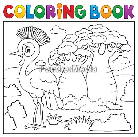 coloring book african nature topic 5