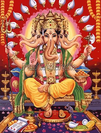 ganesha hinduski pan wiara mitologia bog