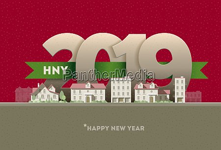 happy new year 2019 in the
