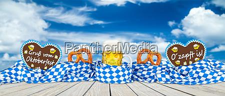 bavarian flag pretzel gingerbread hearts and