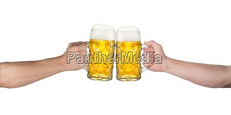 cheers hands oktoberfest