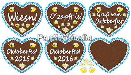oktoberfest gingerbread heart collection