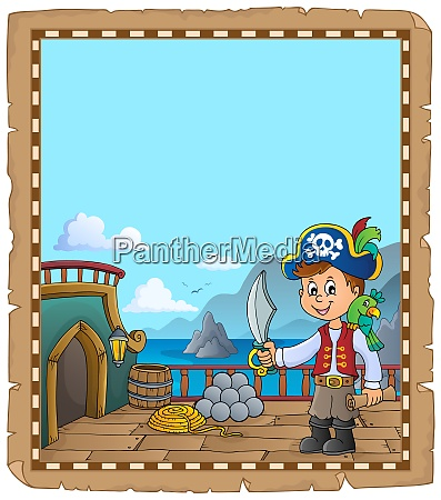 pirate ship deck topic parchment 2