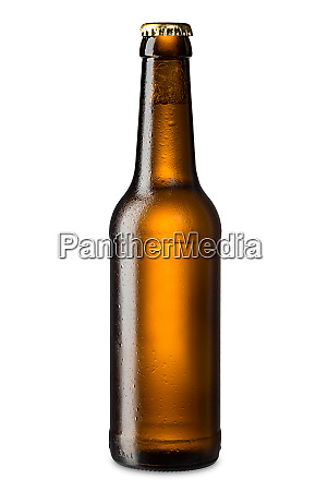 ice cold beer bottle