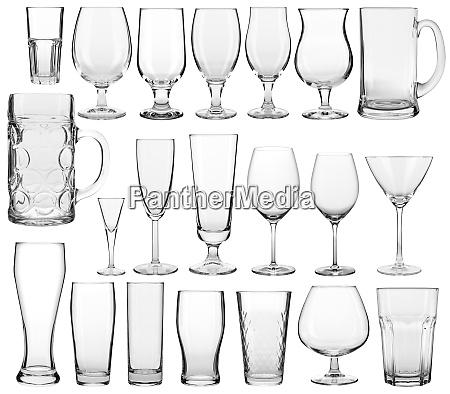 empty glassware collection