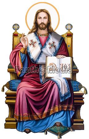 jezus chrystus swiety duch ilustracja milosc