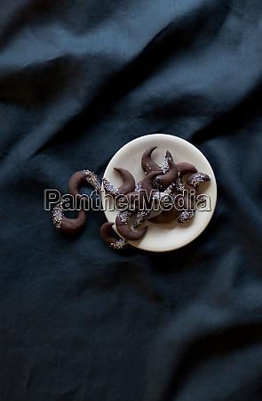 ciasteczka czekoladowe boze narodzenie zima stol