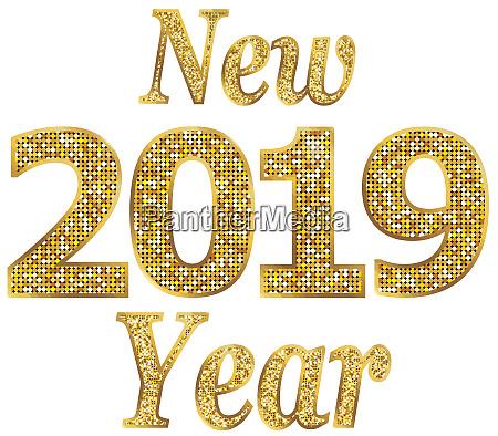 2019 blyszczacy celebracja ilustracja nowy rok