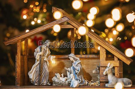 scena christmas manger z figurkami