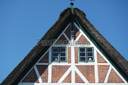half timbered house northern germany altes