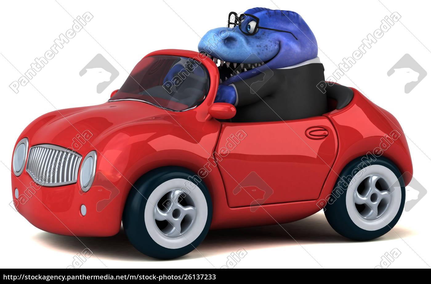 zabawna, żaba, -, ilustracja, 3d - 26137233