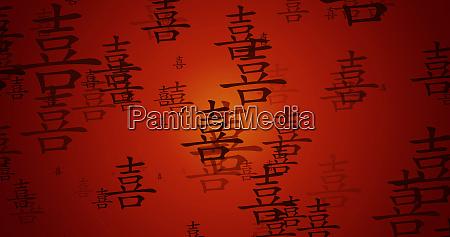 szczescie chinskie kaligrafia tlo