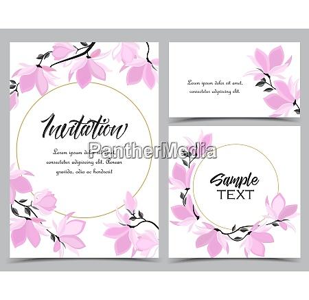 kwiaty magnolia vector