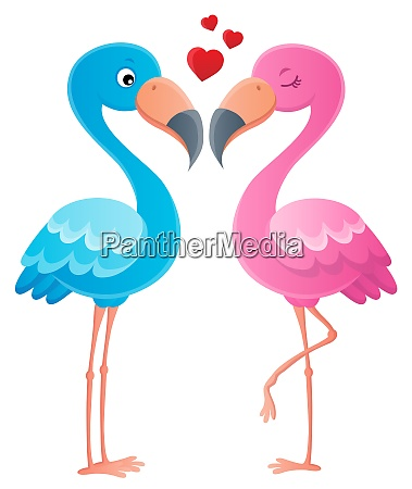 valentine flamingos topic image 2